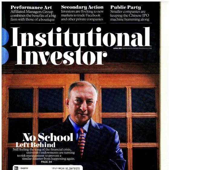 Institutional Investor April 2011