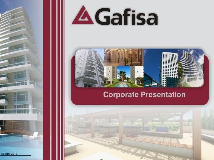 Corporate Presentation     August 2010                            1