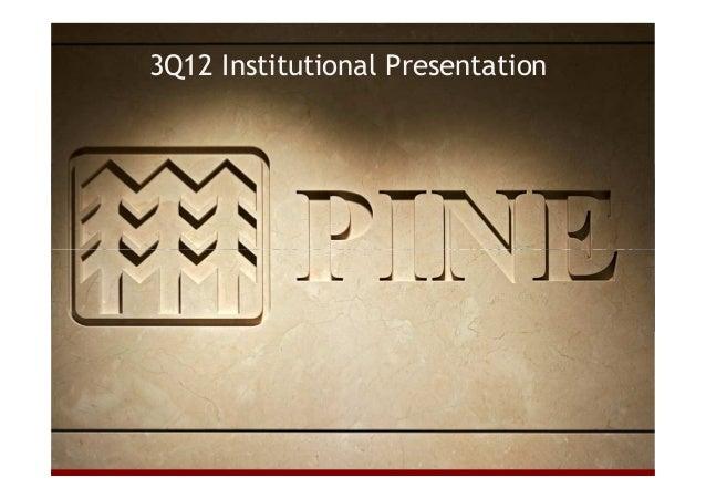 3Q12 Institutional Presentation