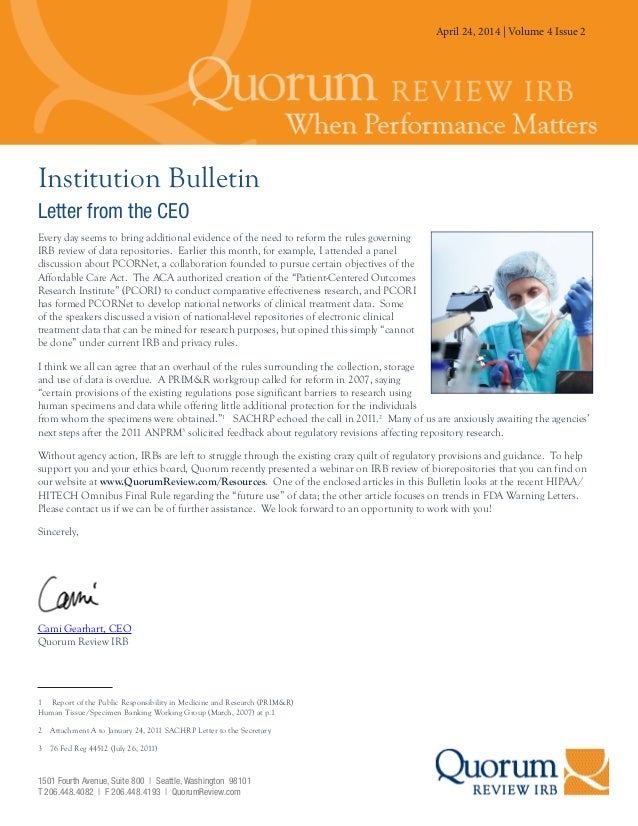 July 25, 2013   Volume 3 Issue 3 Institution Bulletin Letter from the CEO Every day seems to bring additional evidence of ...