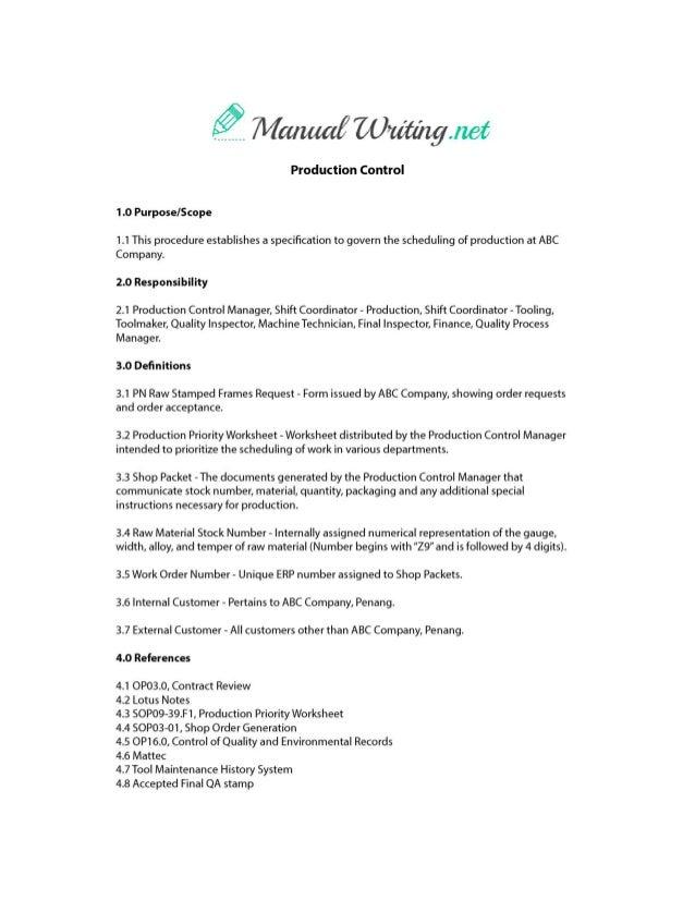 instruction manual sample