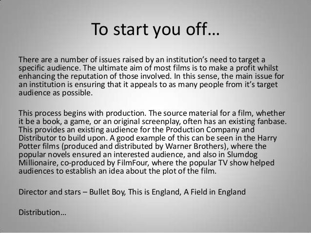 british film industry essay The mainstream music industry reacted by attempting to crack down on individuals who were pirating music and the services that allowed them to hire an essay writer.