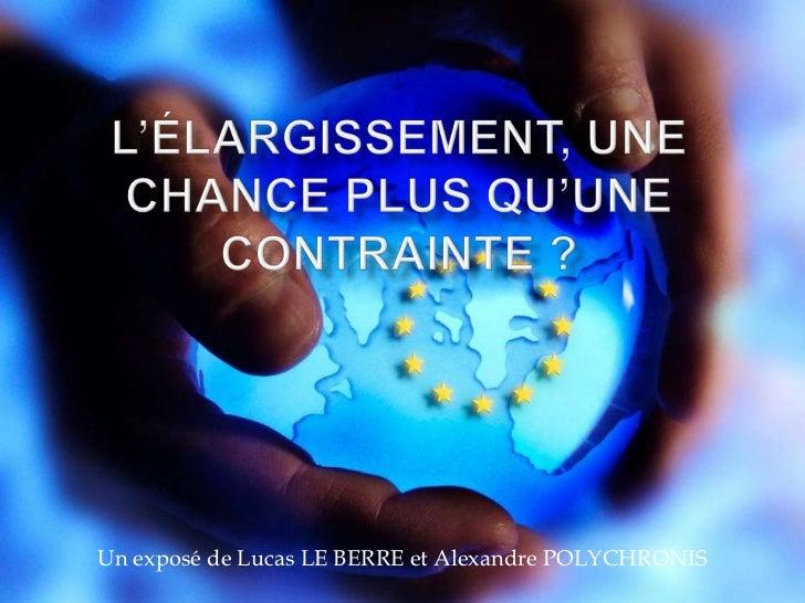 Un exposé de Lucas LE BERRE et Alexandre POLYCHRONIS