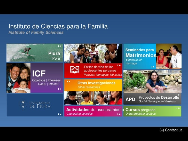 Instituto de Ciencias para la FamiliaInstitute of Family Sciences                                                         ...