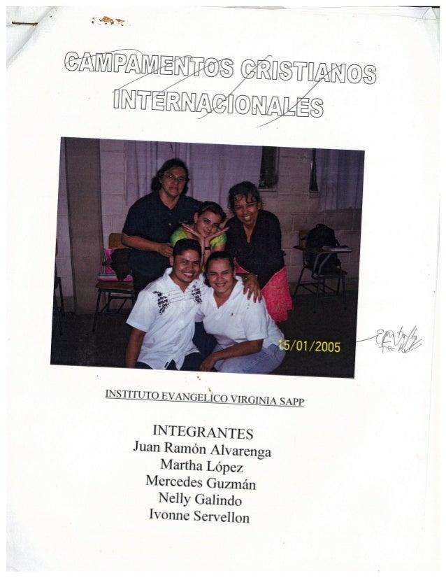 Programa de Campamento Cristiano para jovenes de 16-18 años
