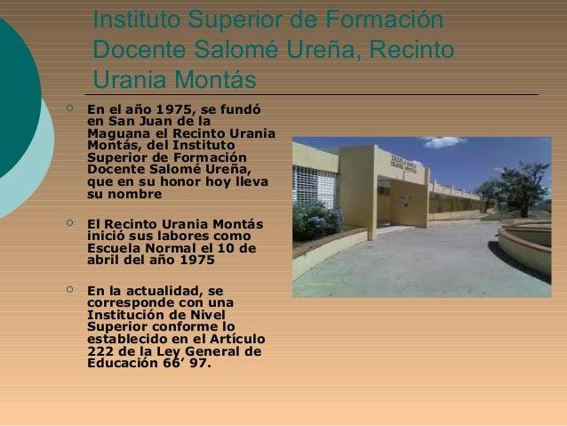 Instituto superior de formaci n docente salom ure a for Instituto formacion docente