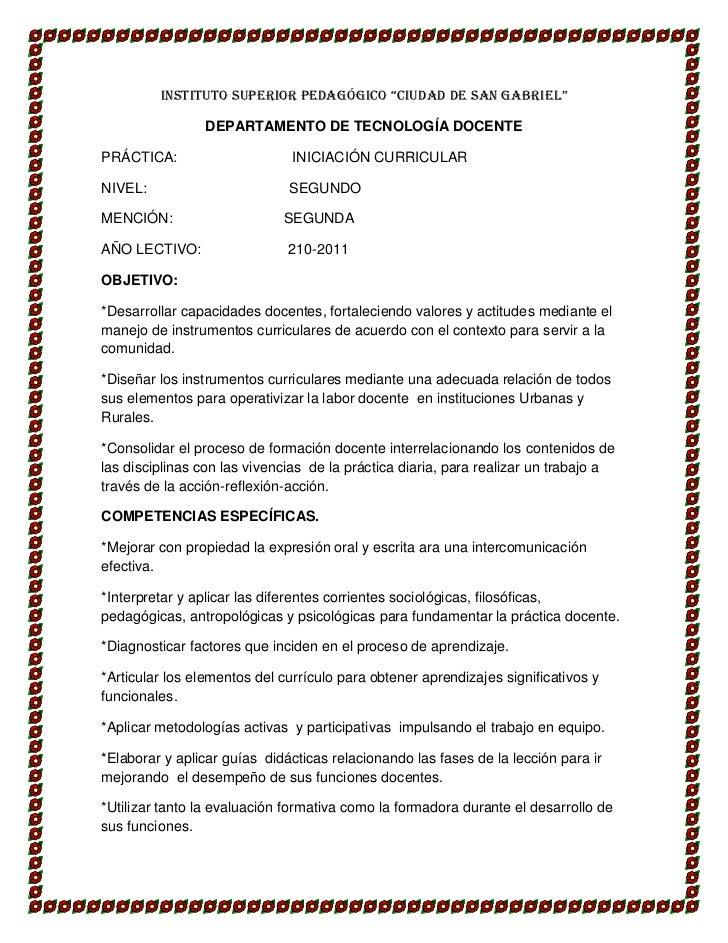 """INSTITUTO SUPERIOR PEDAGÓGICO """"CIUDAD DE SAN GABRIEL""""<br />DEPARTAMENTO DE TECNOLOGÍA DOCENTE<br />PRÁCTICA:              ..."""