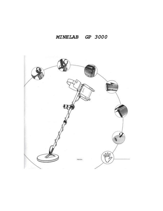 Instruction Manual Minelab GP 3000 Metal Detector Spanish