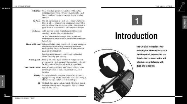 Instruction Manual Minelab GP 3000 Metal Detector English