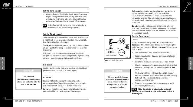 User's Manual Minelab GP Extreme Metal Detector English