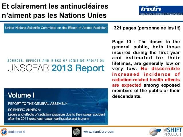 www.manicore.com Et clairement les antinucléaires n'aiment pas les Nations Unies 321 pages (personne ne les lit) Page 10 :...