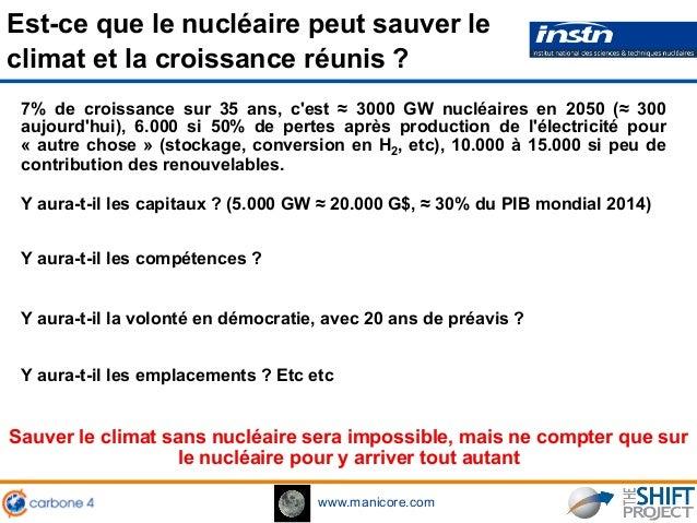 www.manicore.com Sauver le climat sans nucléaire sera impossible, mais ne compter que sur le nucléaire pour y arriver tout...