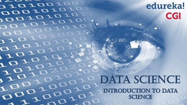 Data Science Introduction to Data Science