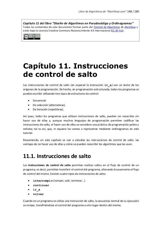 """Libro de Algoritmos de """"Abrirllave.com"""" 148 / 180 Capítulo 11 del libro """"Diseño de Algoritmos en Pseudocódigo y Ordinogram..."""