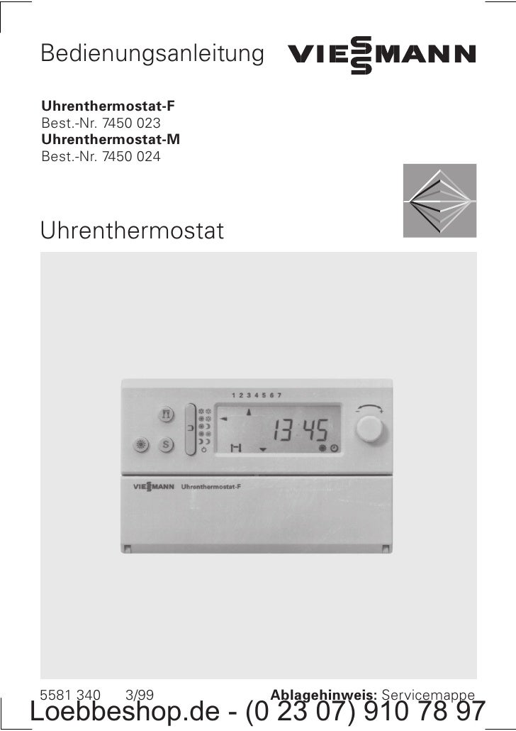 Bedienungsanleitung  Uhrenthermostat F Best. Nr. 7450 023 Uhrenthermostat M Best. Nr. 7450 024     Uhrenthermostat     558...