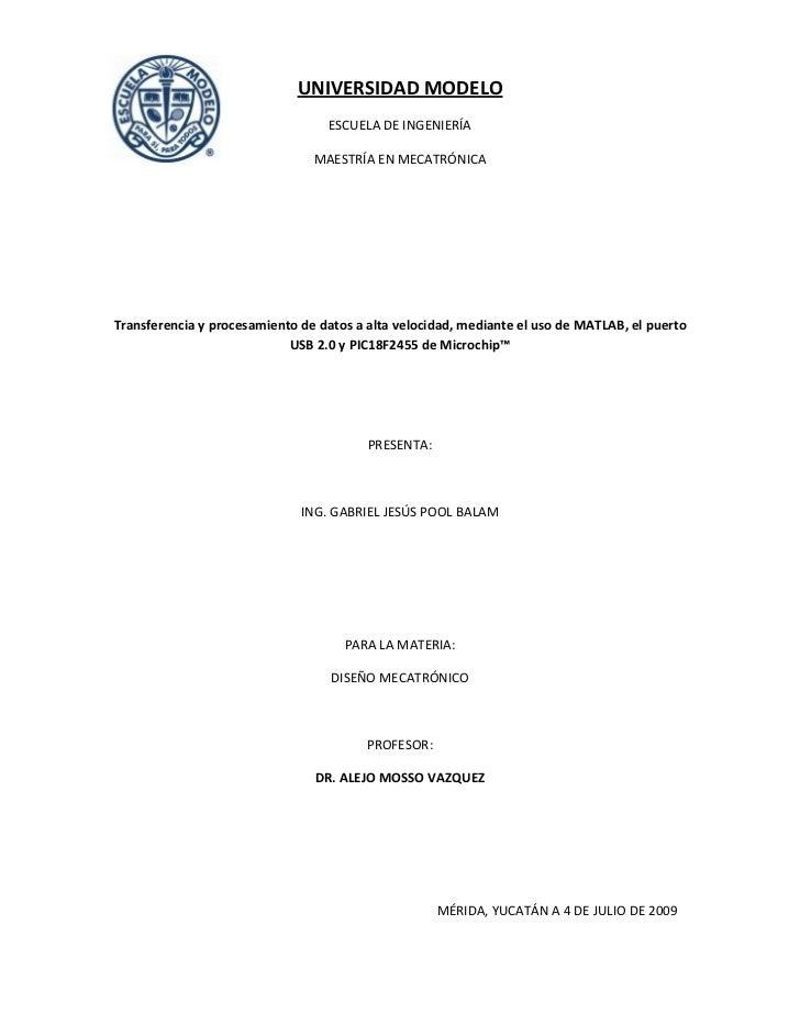 UNIVERSIDADMODELO                                   ESCUELADEINGENIERÍA                                MAESTRÍAENME...