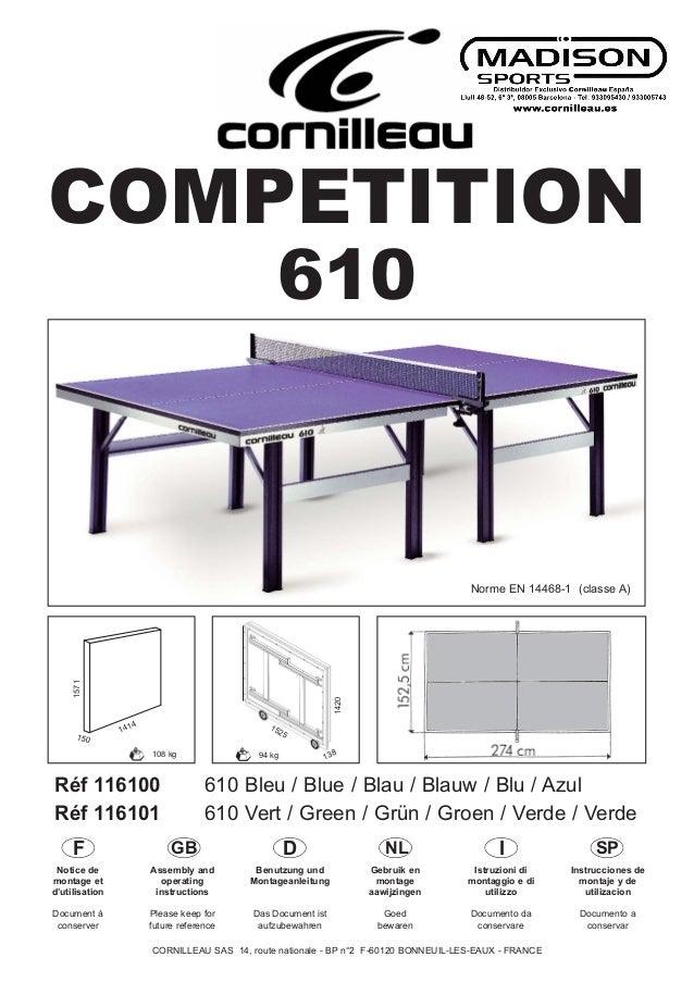 COMPETITION  1525  Norme EN 14468-1 (classe A)  Réf 116100 610 Bleu / Blue / Blau / Blauw / Blu / Azul  Réf 116101 610 Ver...