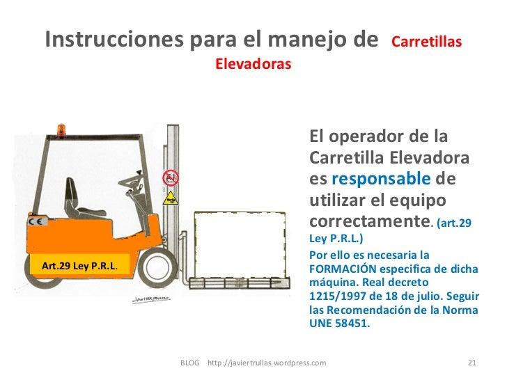 Instrucciones Para El Manejo De Carretillas Elevadoras