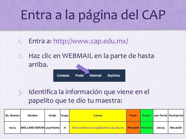 Instrucciones para ingresar al correo Slide 2