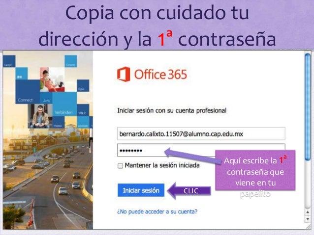 Instrucciones para ingresar al correo Slide 3