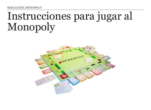 Monopoly Instrucciones Y Reglas Para Jugar