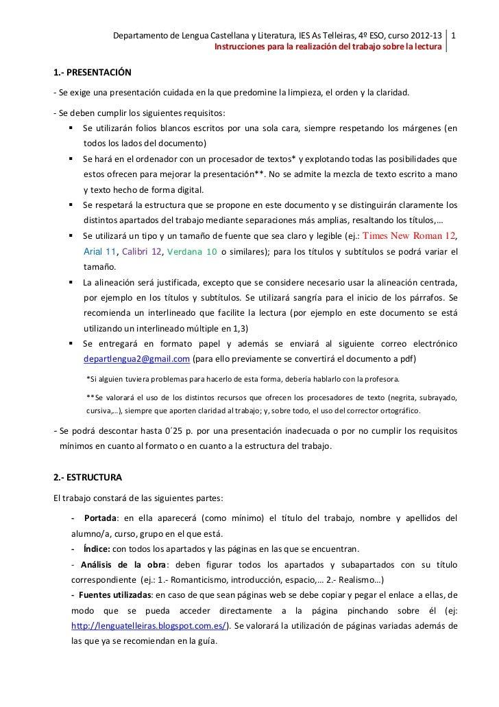 Departamento de Lengua Castellana y Literatura, IES As Telleiras, 4º ESO, curso 2012-13 1                                 ...
