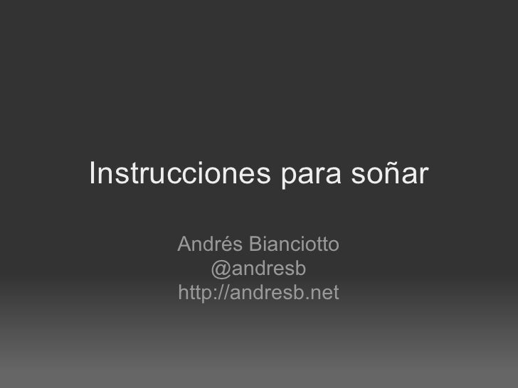 Instrucciones para sonar - Campus Party