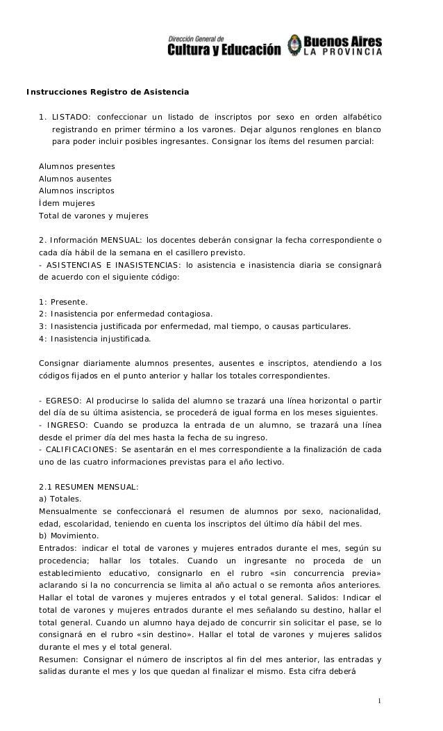 04cc4911c 1 Instrucciones Registro de Asistencia 1. LISTADO  confeccionar un listado  de inscriptos por sexo ...