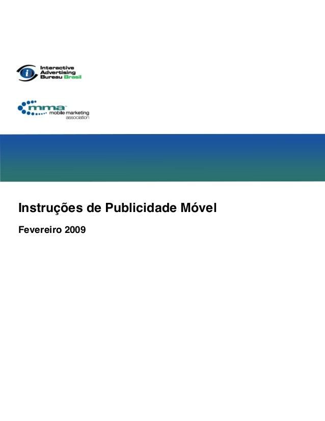 Instruções de Publicidade Móvel Fevereiro 2009