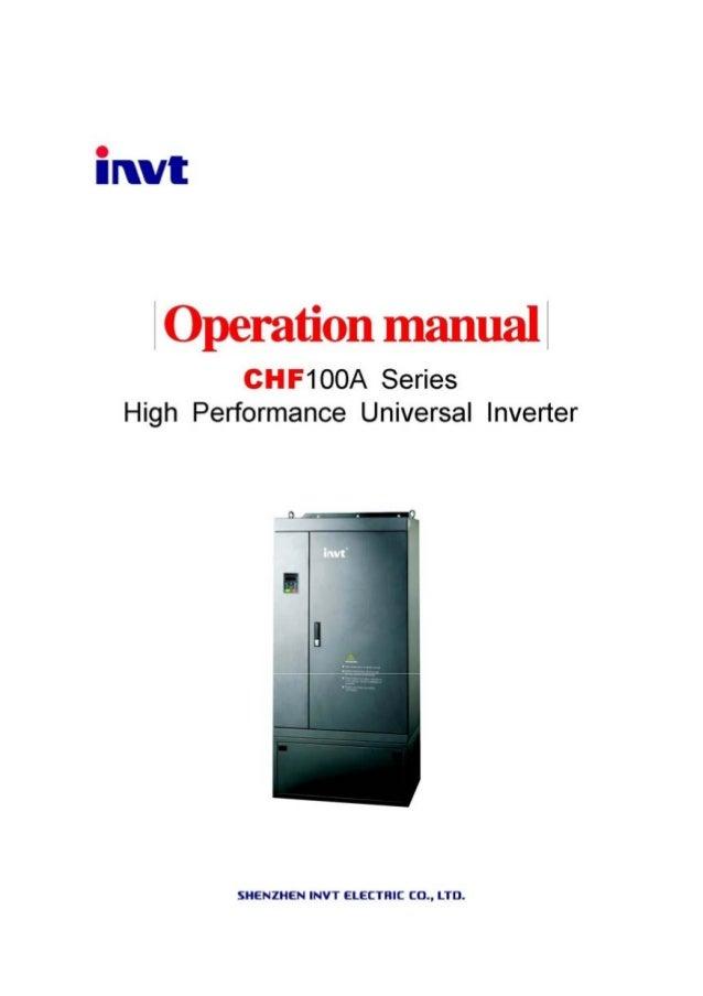Instrucsia Chf100 A