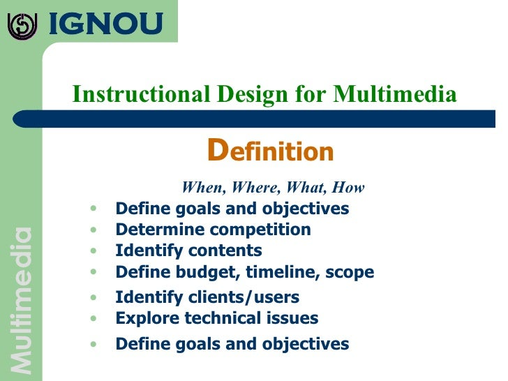 Instructional Design For Multimedia