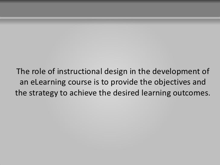 benefits of instructional design