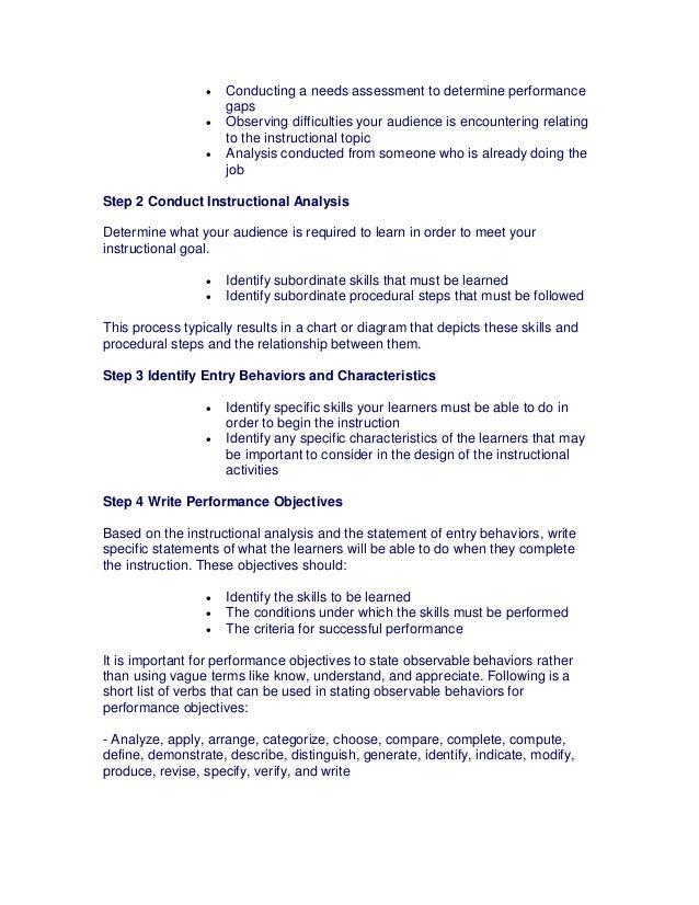 write a performance objective