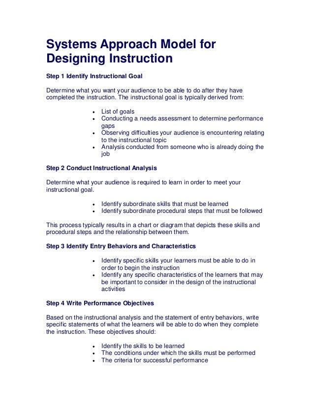 Instructional Design Models Dick N Carey Pdf
