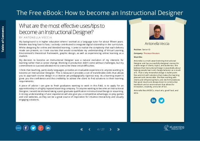 How to become an instructional designer tableofcontents 4 fandeluxe Images