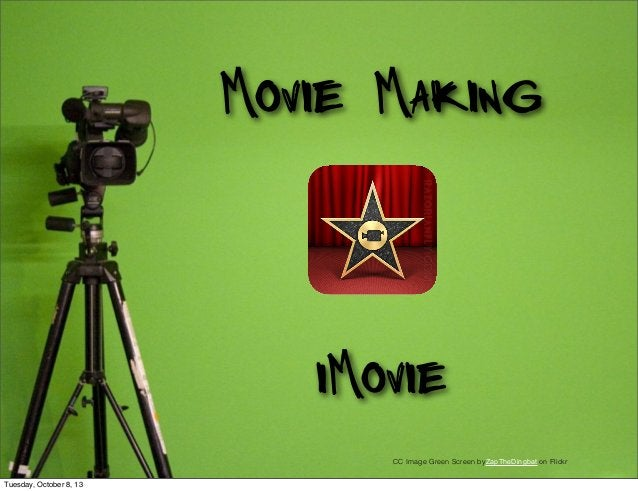 Movie Making iMovie CC Image Green Screen byZapTheDingbat on Flickr Tuesday, October 8, 13