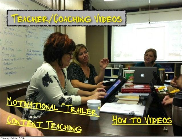 "Teacher/Coaching Videos How to Videos Motivational ""Trailer"" Content Teaching Tuesday, October 8, 13"