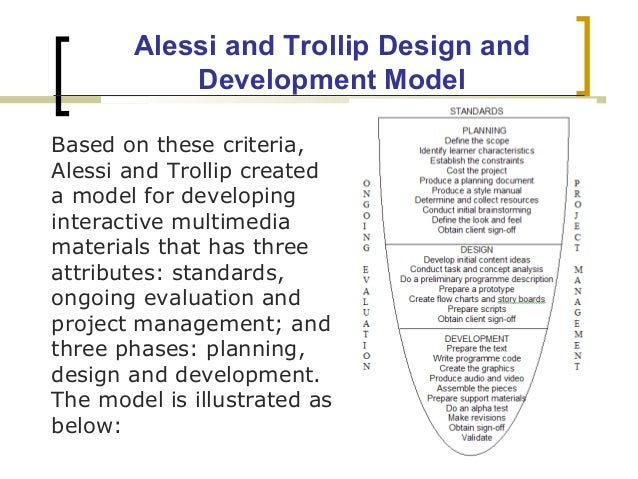 alessi trollip planning (alessi & trollip, 2001) creating multimedia projects can open a whole new  world of discovery and learning for students and encourage them to take an  active.