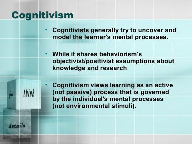 learning theories behaviorism cognitivism constructivism humanism pdf