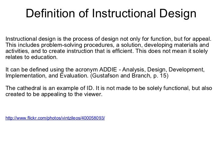 Instructional Design Reading Quiz