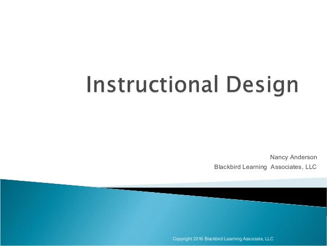 Instructional Design Training 2016