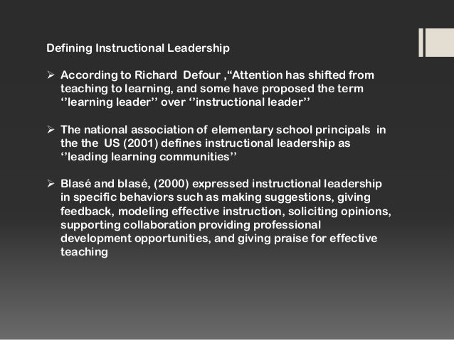 what is instructional leadership