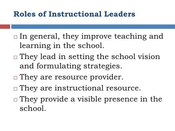 Instructional Leadership 052612