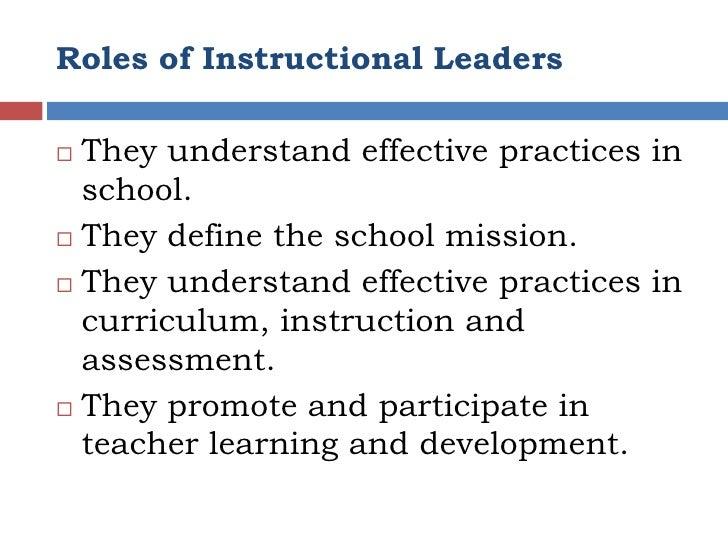 principal as instructors leader