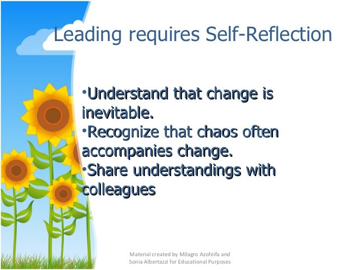 reflection about instructional leadership And actions of every effective leader, the revised tennessee instructional leadership standards  evaluation results and self-reflection standard c .