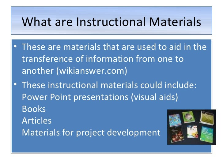 rubrics for evaluating instructional materials