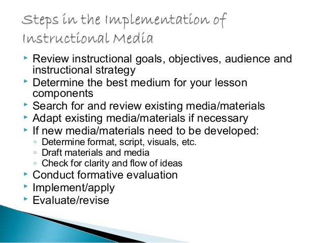 instructional media Open access academic research from top universities on the subject of instructional media design.