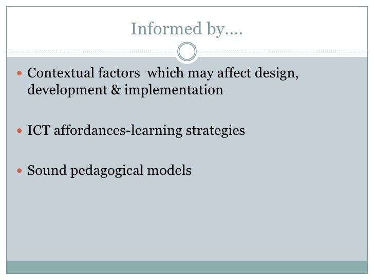 instructional design models for online learning