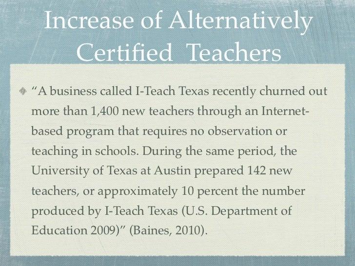 Alternative Certification Research