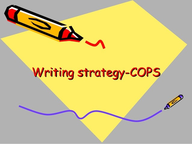 Writing strategy-COPS